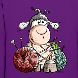 Funny Sheep With Wool Ball Hoodies - Women's Hoodie