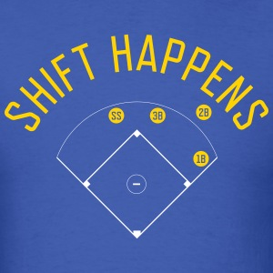 Shift Happens (Royal/Yellow/White) - Men's T-Shirt