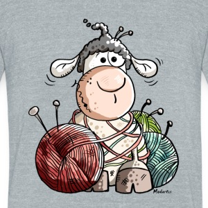 Funny Sheep With Wool Ball T-Shirts - Unisex Tri-Blend T-Shirt by American Apparel