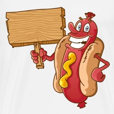 hot dog with wooden blank