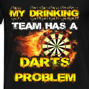 Darts T-shirt - My drinking team - Men's Premium T-Shirt