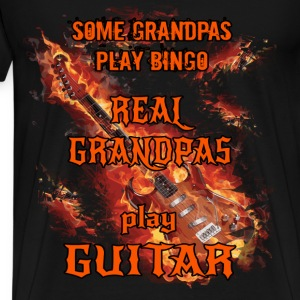 Guitar T-shirt - Grandpa Guitarist - Men's Premium T-Shirt