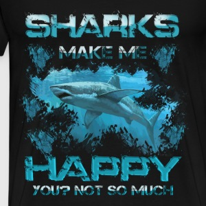 Sharks T-shirt - Sharks make me happy - Men's Premium T-Shirt