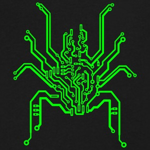 pcb spider T-Shirts - Men's V-Neck T-Shirt by Canvas