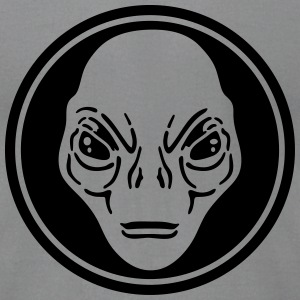 alien face T-Shirts - Men's T-Shirt by American Apparel