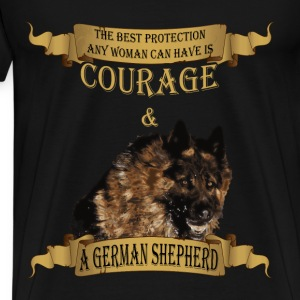 German Shepherd T-shirt - The best protection - Men's Premium T-Shirt