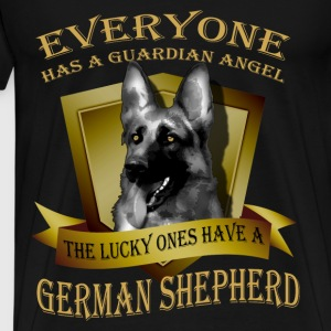 German Shepherd T-shirt - Guardian angel - Men's Premium T-Shirt