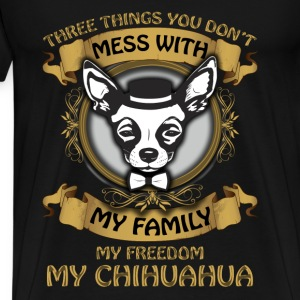 Chihuahua T-shirt - Don't mess with my chihuahua - Men's Premium T-Shirt