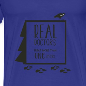 Veterinarian T-shirt - Real doctors - Men's Premium T-Shirt
