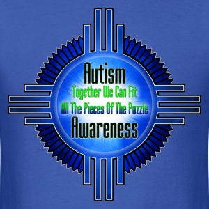 Autism Awareness Emblem Frame Men's T-Shirt - Men's T-Shirt
