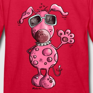 Pink Dog Kids' Shirts - Kids' Long Sleeve T-Shirt