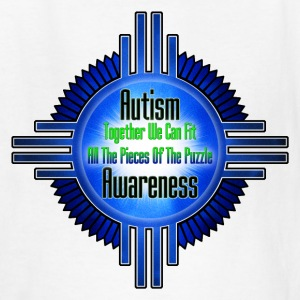 Autism Awareness Emblem Frame Kids T-Shirt - Kids' T-Shirt