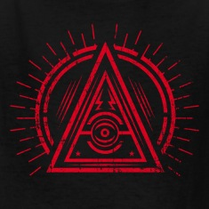 Illuminati - All Seeing Eye - Satan / Black Symbol Kids' Shirts