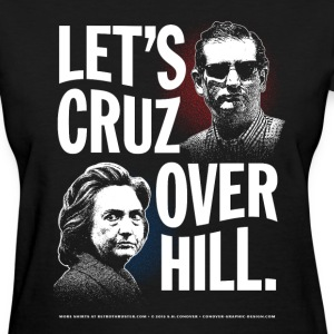 Let's Cruz Over Hill T-Shirt Women's T-Shirts - Women's T-Shirt