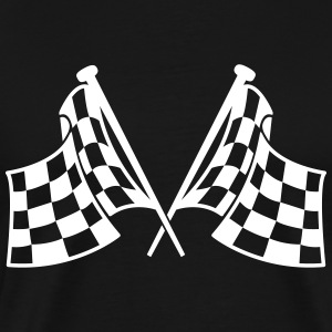 racing flags T-Shirts - Men's Premium T-Shirt