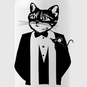 Cat in a tuxedo Mugs & Drinkware - Water Bottle