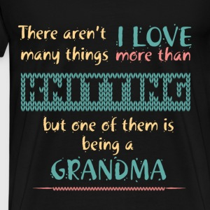 Knitting T-shirt - Knitting grandma - Men's Premium T-Shirt