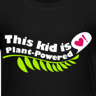 Design ~ Kid's Plant Powered Black T-Shirt