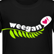 Design ~ Toddler Weegan Black T-Shirt