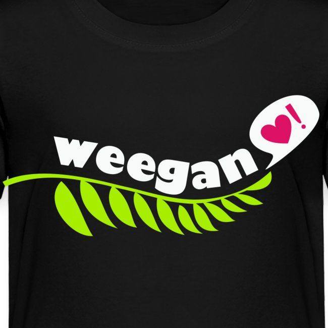 Toddler Weegan Black T-Shirt