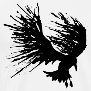 Bird Splat Black - Men's Premium T-Shirt