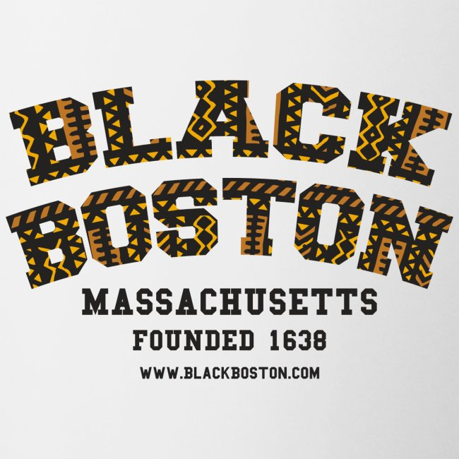 Boston Black Coffee Mug a Black Boston souvenir