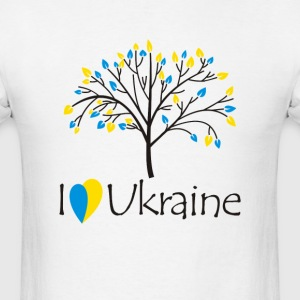 I love Ukraine - Men's T-Shirt