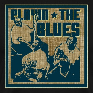 playin the blues - Men's Premium T-Shirt