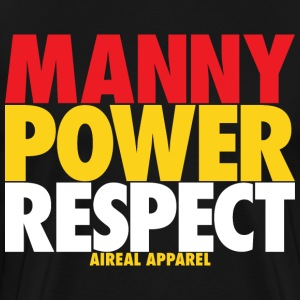 MANNY POWER RESPECT T-Shirts - Men's Premium T-Shirt
