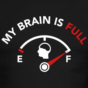 My Brain is Full - Fuel Guage T-Shirts - Men's Ringer T-Shirt
