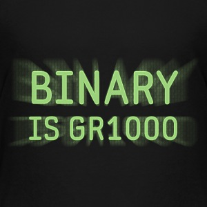 Binary is Great (GR8) Math Joke Kids' Shirts - Kids' Premium T-Shirt