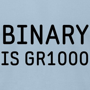 Binary is Great (GR8) Math Humor T-Shirts - Men's T-Shirt by American Apparel
