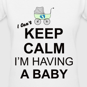 i cant keep calm i am having a baby Women's T-Shirts - Women's V-Neck T-Shirt