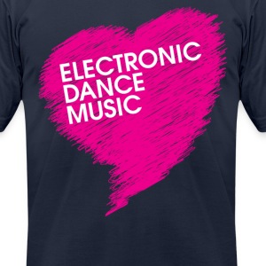 Electronic Dance Music (heart) - Men's T-Shirt by American Apparel
