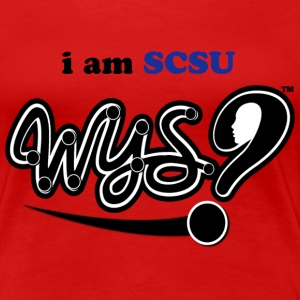 i am SCSU WYS T-shirt (Black Logo) - Women's Premium T-Shirt