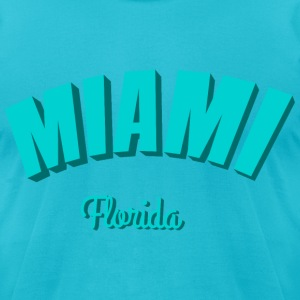 miami florida III T-Shirts - Men's T-Shirt by American Apparel