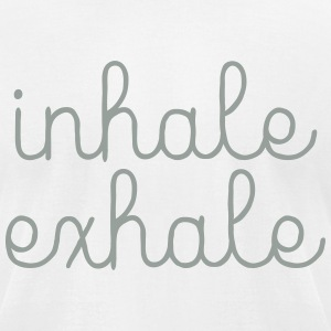 Inhale, Exhale T-Shirts - Men's T-Shirt by American Apparel