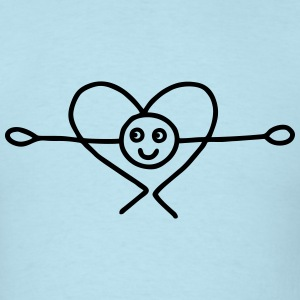 Bow with heart T-Shirts - Men's T-Shirt