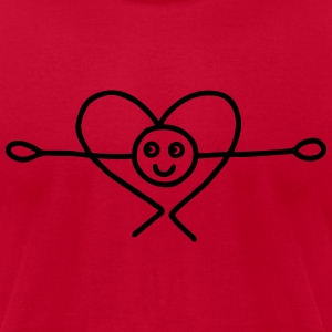 Bow with heart T-Shirts - Men's T-Shirt by American Apparel