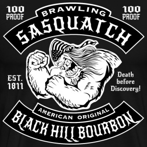 Brawling Sasquatch Black Hill Bourbon - Men's Premium T-Shirt