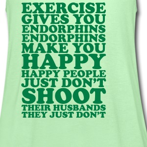 Happy Exercising Tanks - Women's Flowy Tank Top by Bella