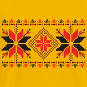 Folk Weave Pattern - Men's Premium T-Shirt