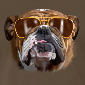 bulldog with sunglasses T-Shirts - Men's Premium T-Shirt