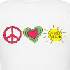 (Double Sided) Happy Last Day - Peace, Love, Summer Break - Men's T-Shirt
