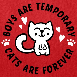 Boys are temporary - Cats are forever Bags & backpacks - Tote Bag