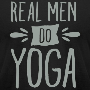 Real Men Do Yoga T-Shirts - Men's T-Shirt by American Apparel