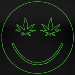 Weed Smiley Face | 420 Hemp - Women's Premium T-Shirt
