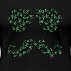 WEED & MUSTACHE SHADED - Women's Premium T-Shirt