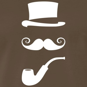 mustache_pipe_hat_20 T-Shirts - Men's Premium T-Shirt