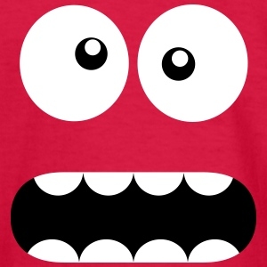 Funny Cartoon Monster Face - Crazy / Smiley Kids' Shirts - Kids' Long Sleeve T-Shirt